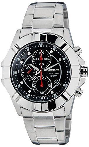 腕時計, メンズ腕時計  SNDD73P1 Seiko Black Dial Chronograph Stainless Steel Mens Watch SNDD73 SNDD73P1