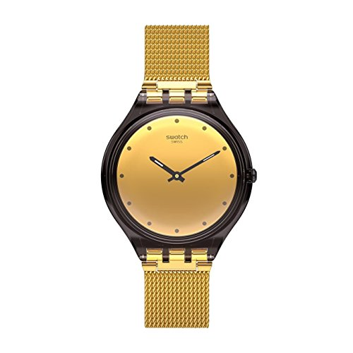 腕時計, レディース腕時計  SVOC100M Swatch Skin Skinmoka Gold Dial Stainless Steel Ladies Watch SVOC100M SVOC100M
