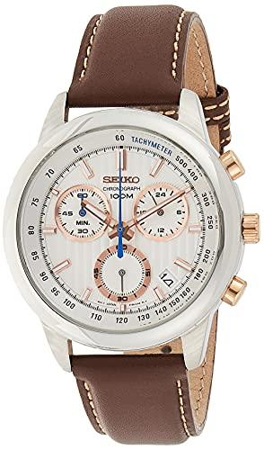 セイコー 腕時計 メンズ SSB211P1 SEIKO SSB211P1,Men's Chronograph,Stainless Steel Case,Brown Leather Strap,100m WR,SSB211セイコー 腕時計 メンズ SSB211P1