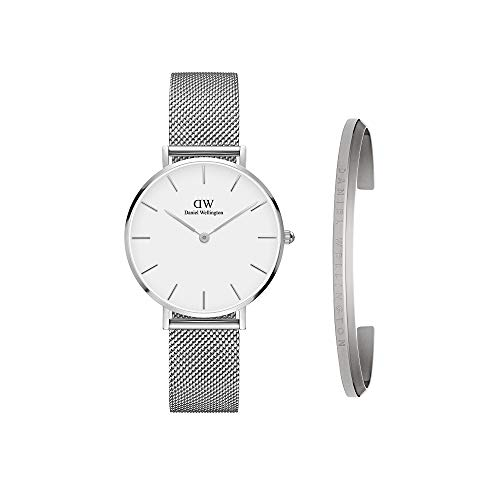ダニエルウェリントン 腕時計 メンズ DW00500004 Daniel Wellington Gift Set, Classic Petite Sterling 32mm Watch with Silver Classic Cuffダニエルウェリントン 腕時計 メンズ DW00500004