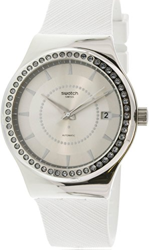 スウォッチ 腕時計 レディース YIS406 Swatch Irony Sistem Snow Silver Dial Silicone Strap Ladies Watch YIS406スウォッチ 腕時計 レディース YIS406