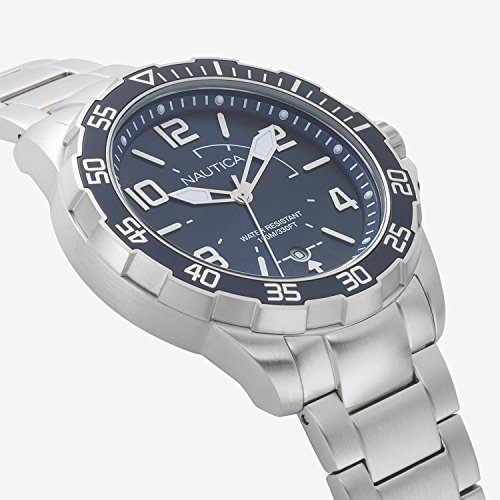 ノーティカ 腕時計 メンズ NAPPLH004 Nautica Men's Pilot House Quartz Sport Watch with Stainless-Steel Strap, Blue, 22 (Model: NAPPLH004ノーティカ 腕時計 メンズ NAPPLH004