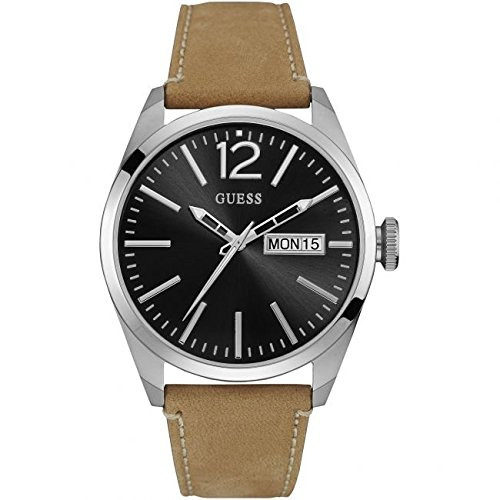 ゲス GUESS 腕時計 メンズ W0658G7 Guess Vertigo Black Dial Leather Strap Men's Watch W0658G7ゲス GUESS 腕時計 メンズ W0658G7