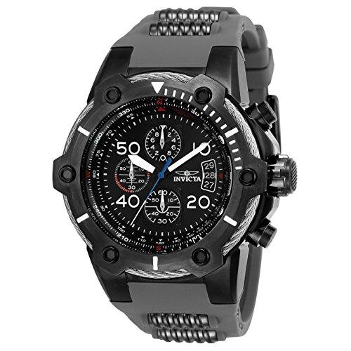インヴィクタ インビクタ ボルト 腕時計 メンズ 25467 Invicta Men's Bolt Stainless Steel Quartz Watch with Polyurethane Strap, Silver, 26 (Model: 25467インヴィクタ インビクタ ボルト 腕時計 メンズ 25467