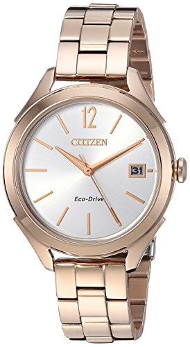 シチズン 逆輸入 海外モデル 海外限定 アメリカ直輸入 FE6143-56A Citizen Women's 'Drive' Quartz Stainless Steel Casual Watch, Color:Rose Gold-Toned (Model: FE6143-56A)シチズン 逆輸入 海外モデル 海外限定 アメリカ直輸入 FE6143-56A