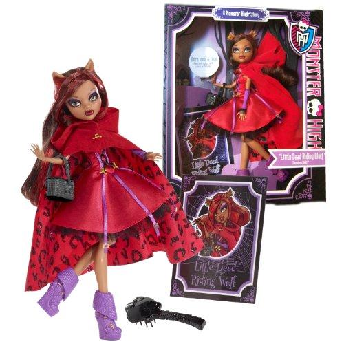 コレクション, インテリアホビー  Monster High Mattel Year 2012 Once Upon a Time Story Series 11 Inch Doll Set - Clawdeen Wolf as Little Dead Riding Wolf with Basket, Hairbrush and Storybook Cover Shot