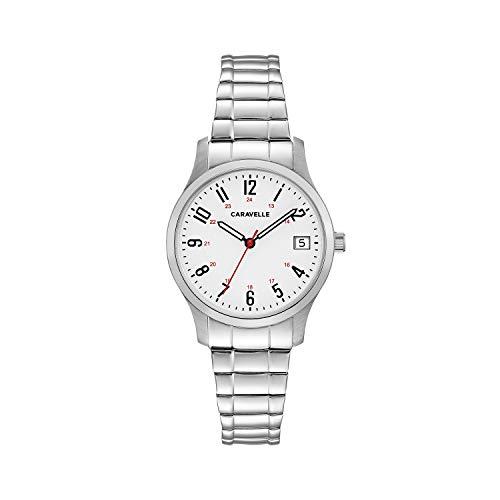【当店1年保証】ブローバCaravelle Women's Quartz Stainless Steel Dress Watch, Color:Silver-Toned (Model: 43M119)