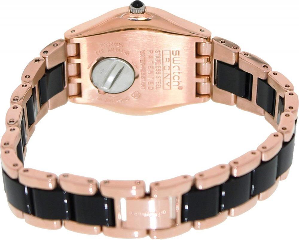 スウォッチ 腕時計 レディース #N/A Swatch YLG123G rose pearl black dial two-tone metal bracelet women watch NEWスウォッチ 腕時計 レディース #N/A