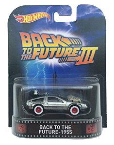 """ホットウィール マテル ミニカー ホットウイール CFR30 【送料無料】Back to the Future - 1955 Time Machine """"Back to the Future Part III"""" Hot Wheels 2015 Retro Series 1/64 Die Cast Vehicleホットウィール マテル ミニカー ホットウイール CFR30"""