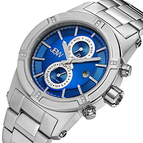 高級腕時計 メンズ J6248LH JBW Men's J6263J Strider Diamond Blue/Stainless Steel Watch高級腕時計 メンズ J6248LH