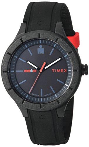 タイメックス 腕時計 メンズ TW5M16800 Timex TW5M16800 Ironman Essential Urban Analog 42mm Black/Red Silicone Strap Watchタイメックス 腕時計 メンズ TW5M16800