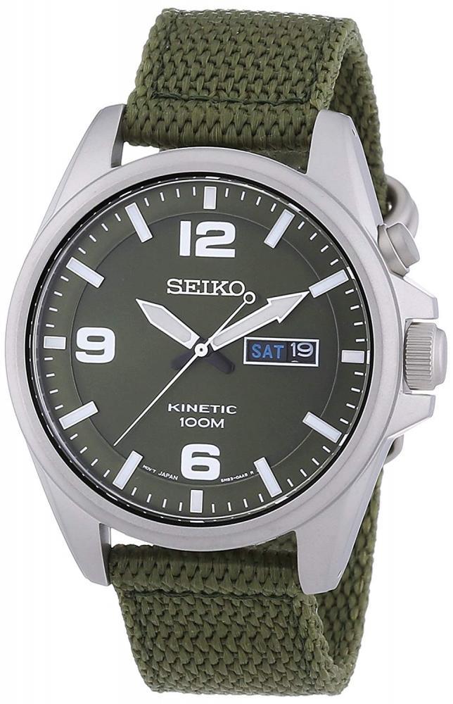 セイコー 腕時計 メンズ Seiko SMY141P1 Green Dial Green Canvas Mens Watchセイコー 腕時計 メンズ