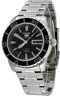 セイコー腕時計メンズSeikoMen'sSNZH55Seiko5AutomaticBlackDialStainless-SteelBraceletWatchセイコー腕時計メンズ