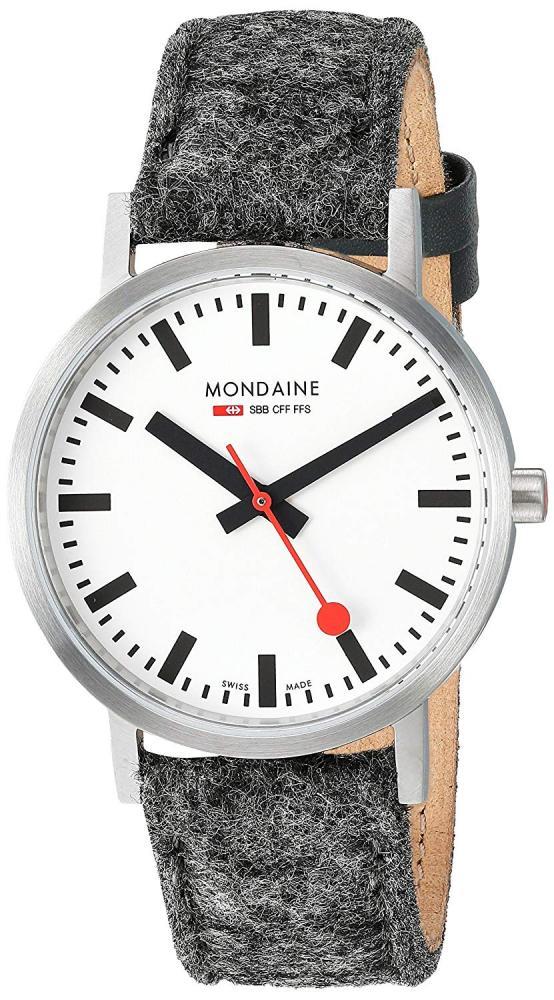 モンディーン 北欧 スイス 腕時計 レディース Mondaine SBB Stainless Steel Swiss-Quartz Watch with Leather Strap, Grey, 17.4 (Model: A660.30314.16SBHモンディーン 北欧 スイス 腕時計 レディース