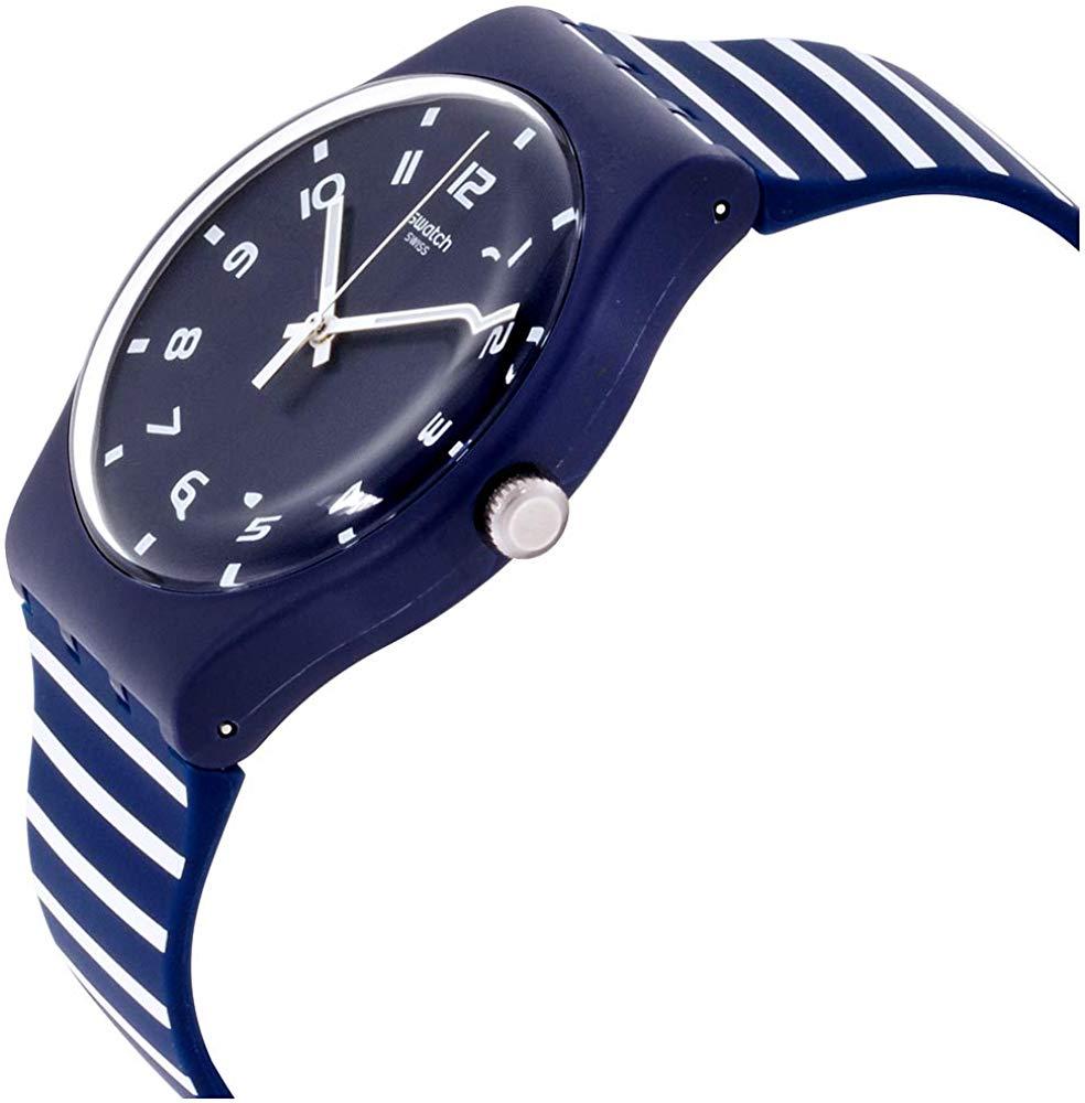 スウォッチ 腕時計 メンズ Swatch Originals Striure Blue Dial Silicone Strap Unisex Watch SUON130スウォッチ 腕時計 メンズ