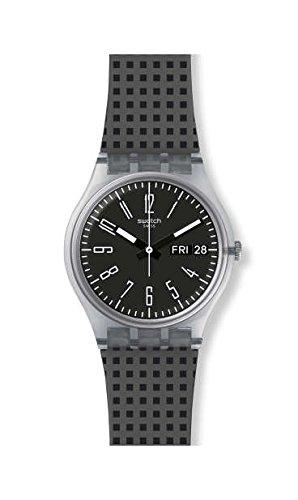 スウォッチ 腕時計 メンズ Swatch Efficient GE712 Clear Silicone Swiss Quartz Fashion Watchスウォッチ 腕時計 メンズ