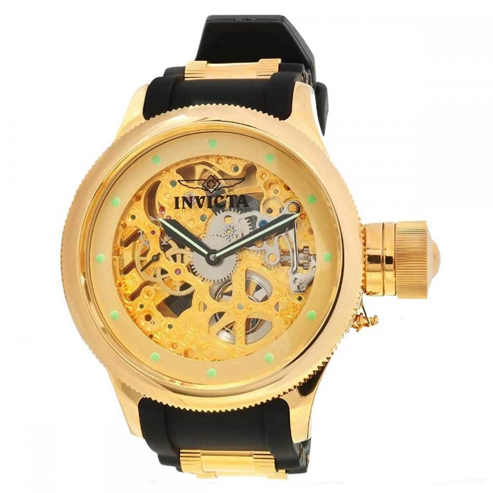 インヴィクタ インビクタ 腕時計 メンズ Invicta Russian Diver Skeletonized Mechanical Gold-tone Mens Watch 1243インヴィクタ インビクタ 腕時計 メンズ