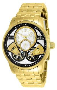 インヴィクタインビクタ腕時計メンズ25579-INVICTAObjetDArtMen44mmStainlessSteelGoldBlack+SilverdialS-05AAutomaticインヴィクタインビクタ腕時計メンズ