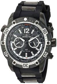 インヴィクタインビクタ腕時計メンズInvictaMen's'Aviator'QuartzStainlessSteelandSiliconeCasualWatch,Color:Black(Model:24583)インヴィクタインビクタ腕時計メンズ