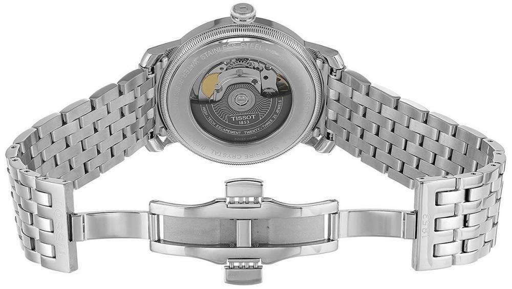 ティソ 腕時計 メンズ Tissot Men's T0974071103300 Bridgeport Analog Display Swiss Automatic Silver Watchティソ 腕時計 メンズ