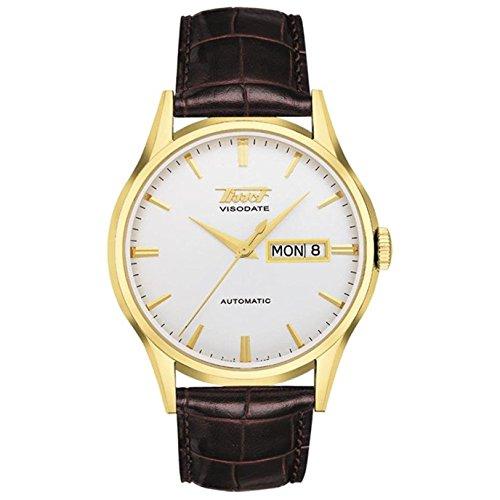 ティソ 腕時計 メンズ Tissot Men's T0194303603101 Visodate Automatic Brown Band White Dial Watchティソ 腕時計 メンズ