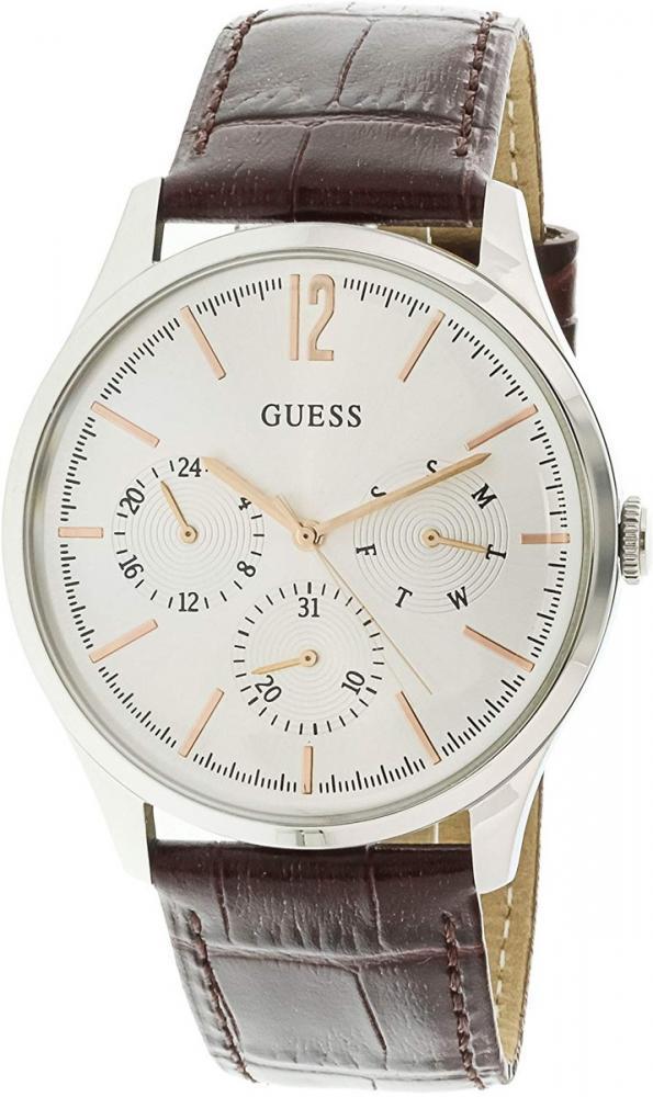 ゲス GUESS 腕時計 レディース Guess U1041G1 Silver Leather Japanese Quartz Fashion Watchゲス GUESS 腕時計 レディース