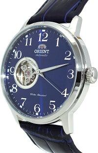 オリエント腕時計メンズORIENTClassicMechanicalEsteemOpenHeartBlueSunrayLeatherWatchRA-AG0011Lオリエント腕時計メンズ