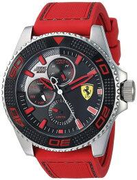 フェラーリ腕時計メンズFerrariMen's'KERSXtreme'QuartzStainlessSteelandSiliconeCasualWatch,ColorRed(Model:0830469)フェラーリ腕時計メンズ