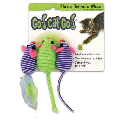 猫おもちゃ ネコ ねこ 病みつき 猫まっしぐら Go! Cat! Go! Three Twined Mice Cat Toy [Set of 4]猫おもちゃ ネコ ねこ 病みつき 猫まっしぐら