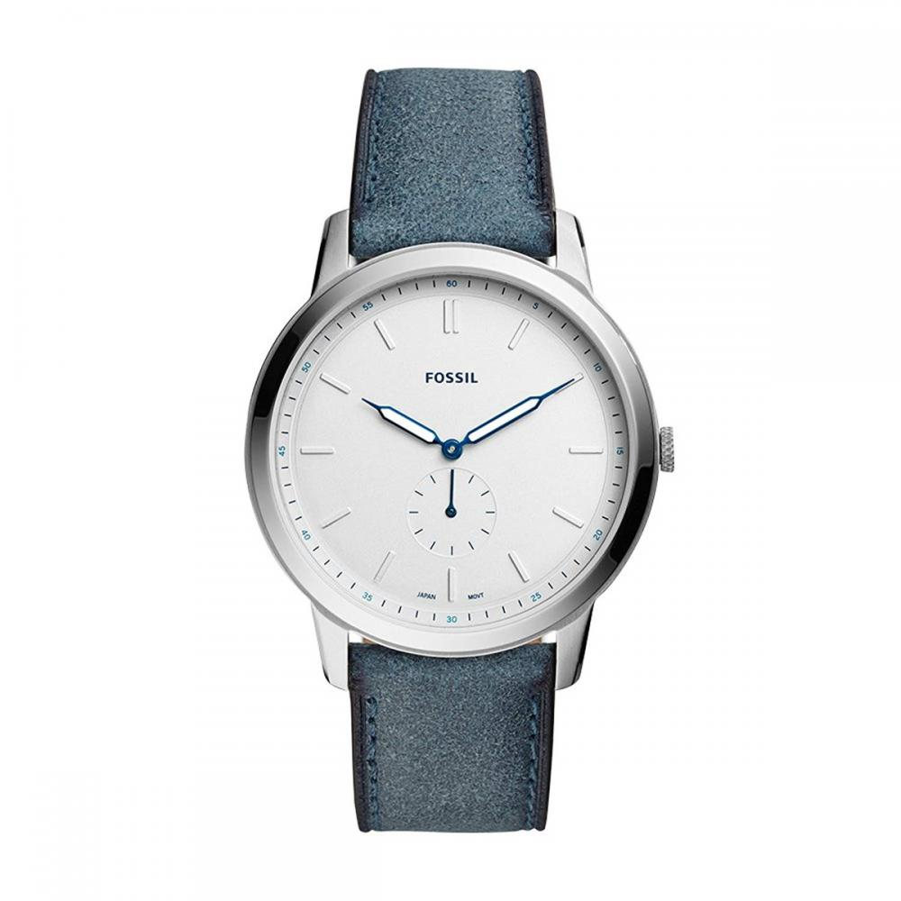 フォッシル 腕時計 メンズ Fossil Men's 'The The Minimalist - Mono Quartz Stainless Steel and Leather Casual Watch, Color:Blue (Model: FS5446フォッシル 腕時計 メンズ