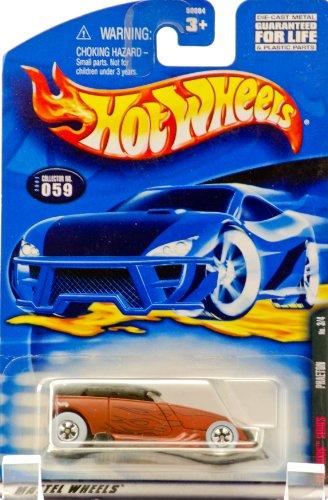 ホットウィール マテル ミニカー ホットウイール 2001 - Mattel - Hot Wheels - Rat Rods Series 3 of 4 - Phaeton (Matte Brown) Flame Graphics / Black Top - Rare White Wall Tires - Collector #059 - New - Out ofホットウィール マテル ミニカー ホットウイール画像