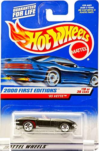 ホットウィール マテル ミニカー ホットウイール Hot Wheels 2000 - Mattel 65 Vette Convertible - Metallic Black - Red Interior - 5 Spoke Wheels - #19 of 36 - New - Out of Production - Limited Edition - Colleホットウィール マテル ミニカー ホットウイール画像