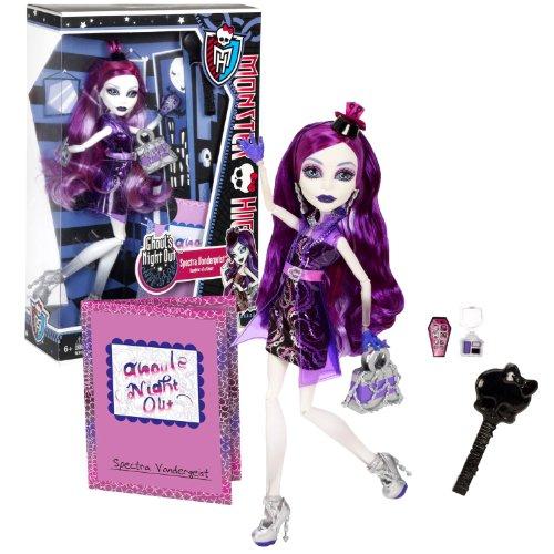 モンスターハイ 人形 ドール 【送料無料】Monster High Mattel Year 2012 Ghoul's Night Out Series 11 Inch Doll Set - Spectra VONDERGEIST Daughter of a Ghost with Smartphone, Cosmetic Accessories, Purse, Hairbrush and Dollモンスターハイ 人形 ドール画像