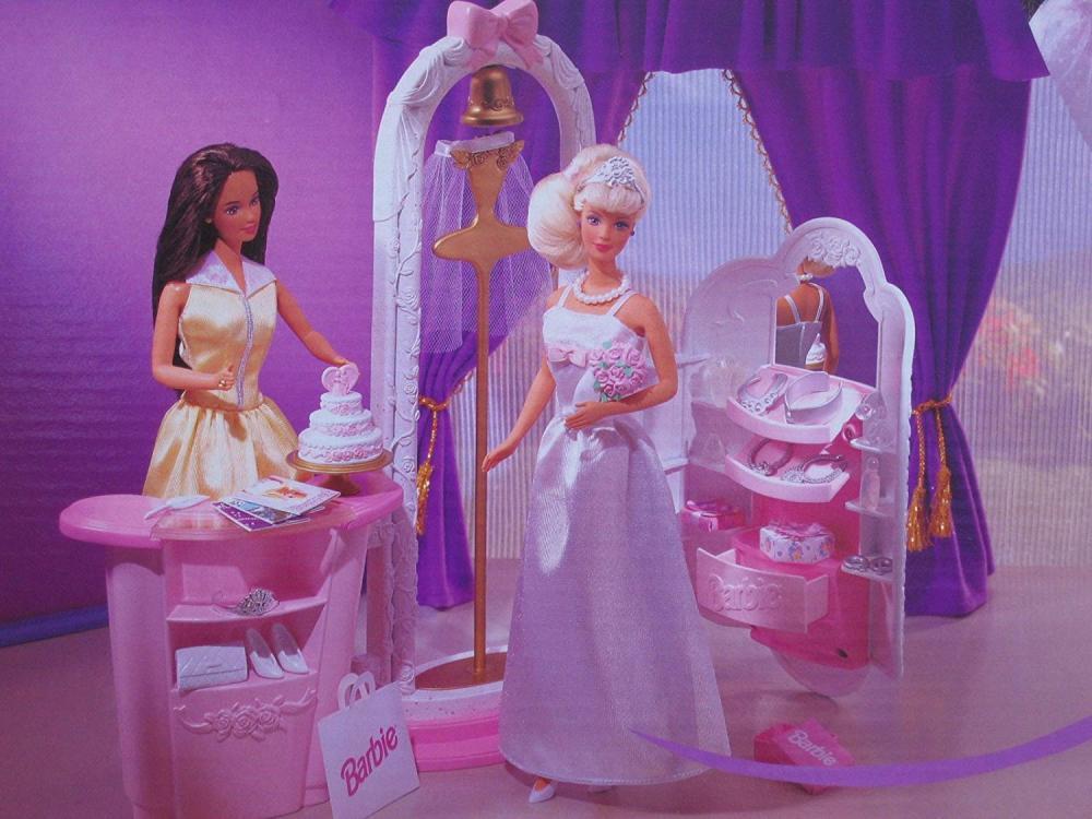 バービー バービー人形 ウェディング ブライダル 結婚式 Barbie DREAM WEDDING BOUTIQUE Playset w BARBIE BRIDE DOLL & More (1999 Arcotoys, Mattel)バービー バービー人形 ウェディング ブライダル 結婚式