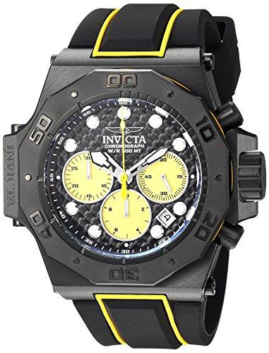 インヴィクタ インビクタ 腕時計 メンズ Invicta Men's 'Akula' Quartz Stainless Steel and Silicone Casual Watch, Color:Black (Model: 23106)インヴィクタ インビクタ 腕時計 メンズ