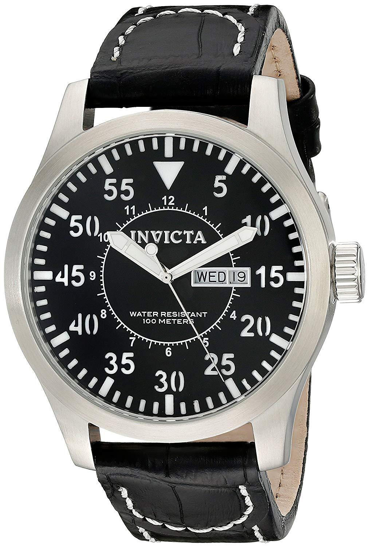 インヴィクタ インビクタ 腕時計 メンズ Invicta Men's 11184 Specialty Black Leather Watchインヴィクタ インビクタ 腕時計 メンズ