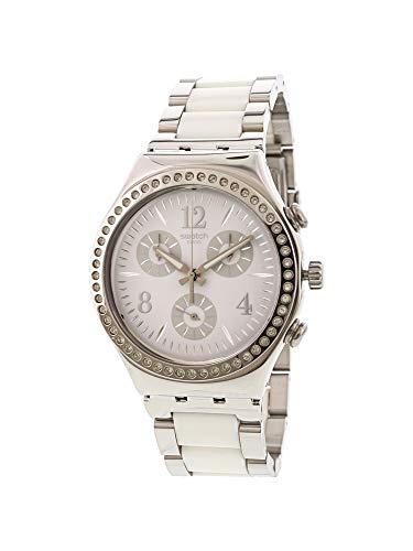 スウォッチ 腕時計 レディース Swatch Irony Made In White White Dial Stainless Steel Unisex Watch YCS119Gスウォッチ 腕時計 レディース