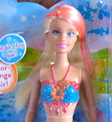 """バービー バービー人形 ファンタジー 人魚 マーメイド BARBIE MERMAID Doll w BLONDE & PINK """"Color Change"""" HAIR & Coral & PINK TAIL (2013)バービー バービー人形 ファンタジー 人魚 マーメイド"""