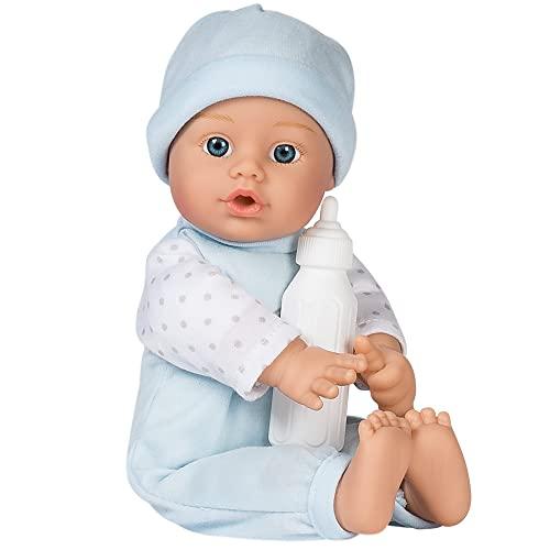 ぬいぐるみ・人形, 着せ替え人形  Adora Sweet Baby Boy Peanut - Machine Washable Baby Doll Age 1 (Amazon Exclusive)