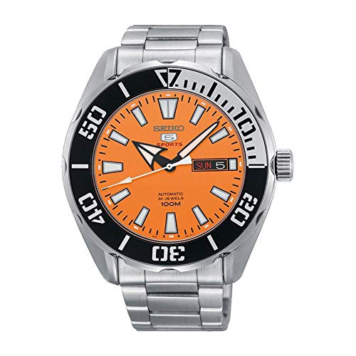 セイコー 腕時計 メンズ SEIKO 5 Sports 100m Automatic Orange Dial Watch SRPC55K1セイコー 腕時計 メンズ