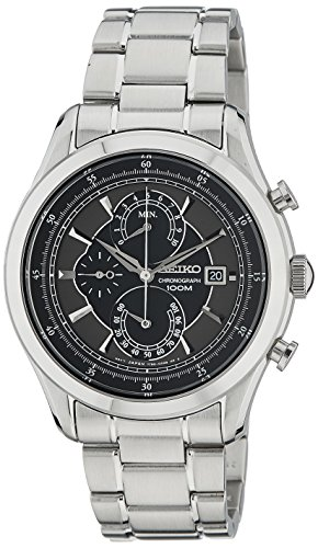 セイコー 腕時計 メンズ Seiko Quartz Chronograph Black Dial Stainless Steel Mens Watch SPC167セイコー 腕時計 メンズ