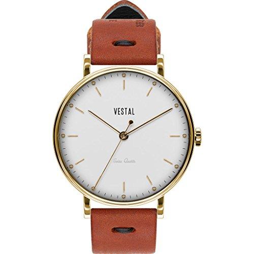 ベスタル ヴェスタル 腕時計 メンズ Vestal The Sophisticate Makers Edition Watch | Persimmon-Black/Gold/Whiteベスタル ヴェスタル 腕時計 メンズ