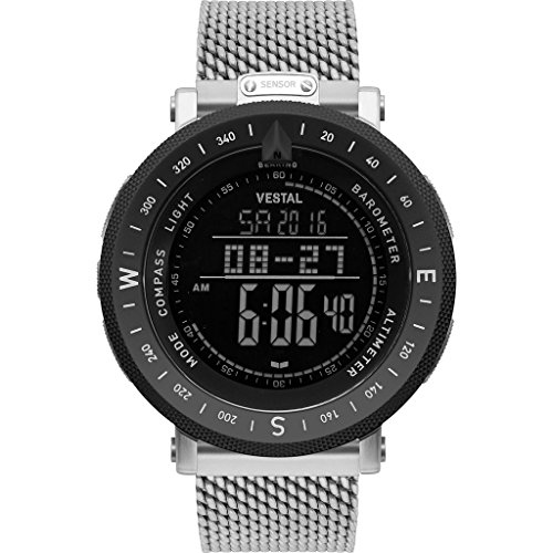ベスタル ヴェスタル 腕時計 メンズ Vestal Guide Metal Watch | Silver/Silver-Black/Negative/Destroyerベスタル ヴェスタル 腕時計 メンズ