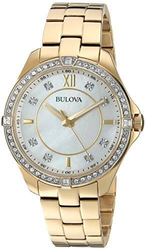ブローバ 腕時計 レディース Bulova Women's 98L230 Analog Display Quartz Gold Watchブローバ 腕時計 レディース