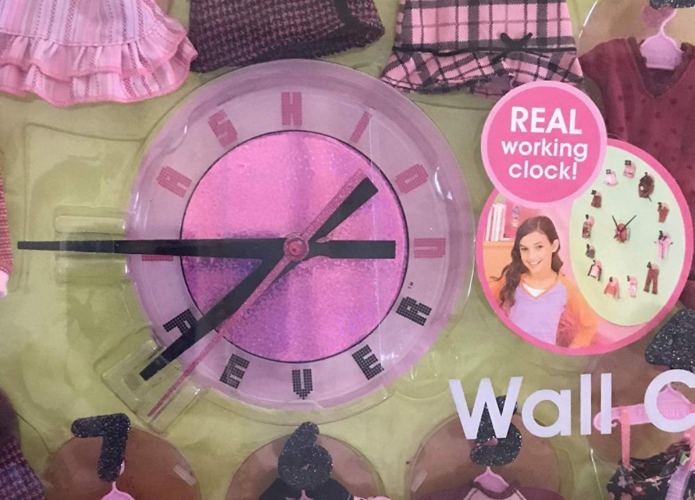 バービー バービー人形 着せ替え 衣装 ドレス Barbie Fashion Fever Real Working Wall Clock & 12 Doll Fashions w Clock Number Wall Mounts & 12 Clothes Hangers (2005)バービー バービー人形 着せ替え 衣装 ドレス