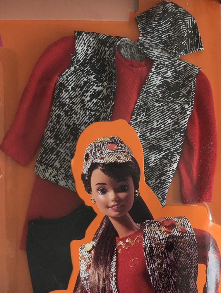 バービー バービー人形 着せ替え 衣装 ドレス Barbie Paint 'n Dazzle Fashions to Decorate w Outfit, Confetti/Sequins, Heart 'Jewels' & More (1993)バービー バービー人形 着せ替え 衣装 ドレス