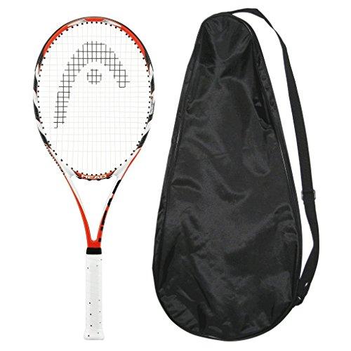 テニス, ラケット  HEAD MicroGel Radical MidPlus Strung with Cover Tennis Racquet MP (4-14)