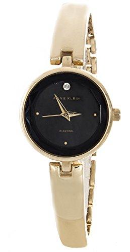 アンクライン 腕時計 レディース Anne Klein Women's Black Dial Gold Tone Bangle Watch AK/1722BKGBアンクライン 腕時計 レディース