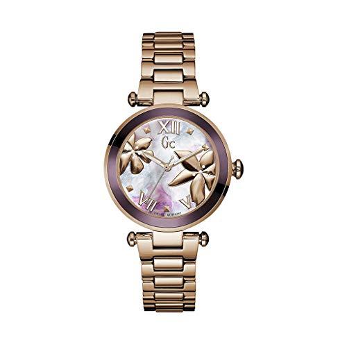 ゲス GUESS 腕時計 レディース Guess Collection Ladies Swiss Quartz Watch with IP Rose Gold Bracelet Gc LadyChic Flowers Sport Chic Collection Y21002L3ゲス GUESS 腕時計 レディース