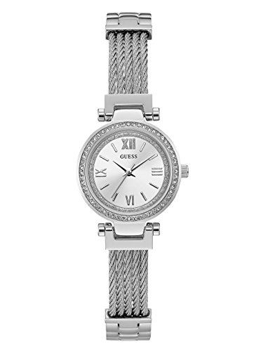 ゲス GUESS 腕時計 レディース GUESS Women's Mini SOHO 27mm Steel Bracelet & Case Quartz Silver-Tone Dial Analog Watch W1009L1ゲス GUESS 腕時計 レディース